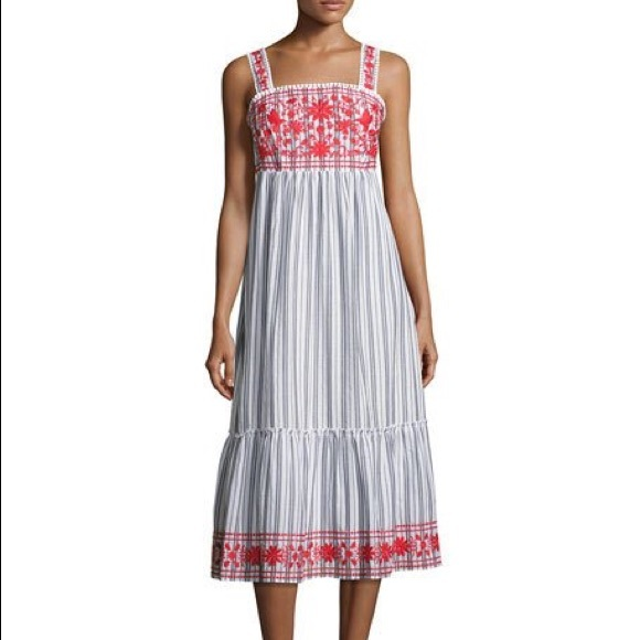b1c440d0c015 kate spade Dresses | New York Stripe Embroidered Dress L Nwt | Poshmark